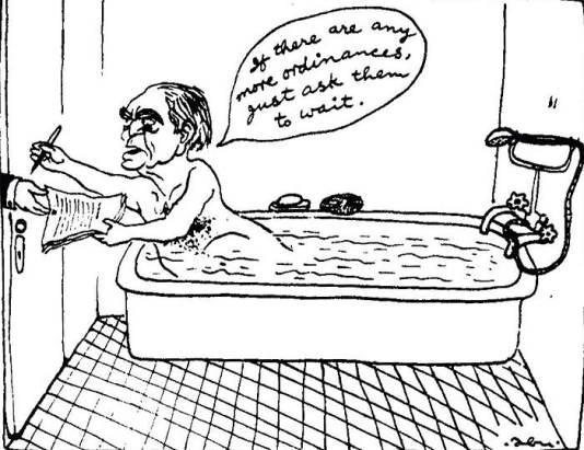 Fakruddin Ali Ahmed - Emergency Cartoon